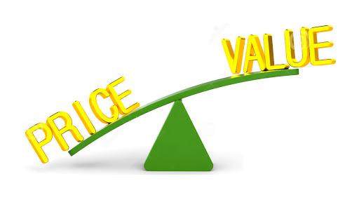 sự bất cân xứng trong giá cả và chất lượng dịch vụ