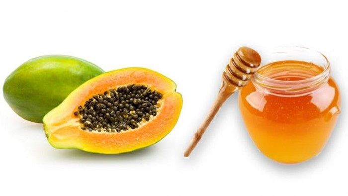 Hỗn hợp đu đủ và mật ong