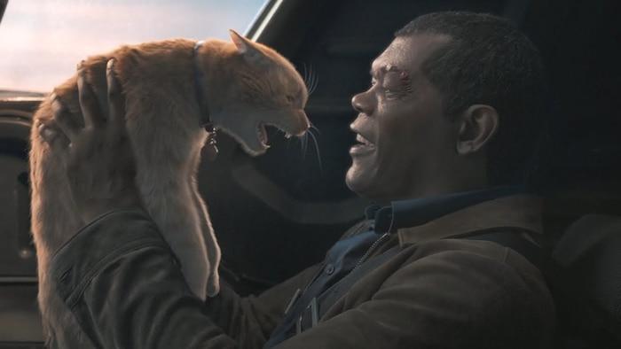 Nick Fury và chú mèo Goose