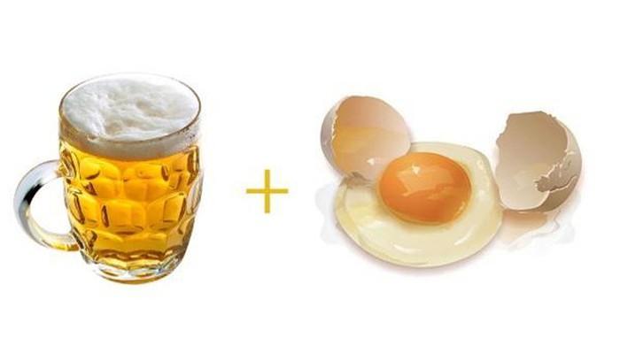 Trứng gà và bia giúp da săn chắc, căng mướt